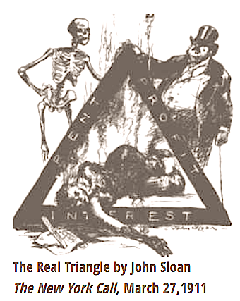 The Real Triangle by John Sloan, NY Call, Mar 27, 1911