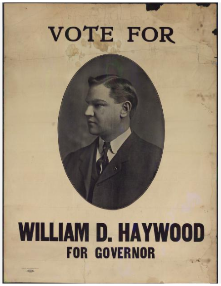 1906 Elections, Haywood for Colorado Governor, IWW Poster