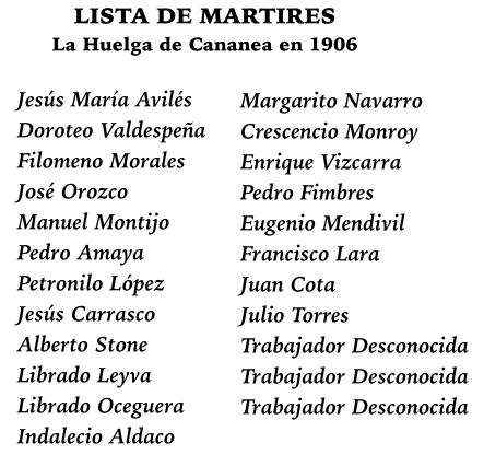 Cananea Martyrs of 1906