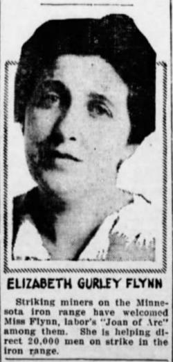 EGF, MN Iron Miners Strike, Tacoma Tx, July 26, 1916