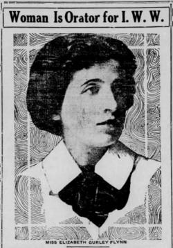 Elizabeth Gurley Flynn, Reno Gz-Jr, July 12, 1916