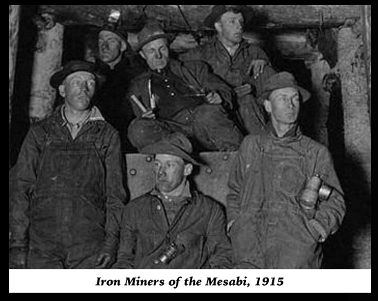 Iron Miners of the Mesabi, 1915