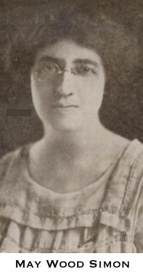 May Wood Simon, 1876-1948