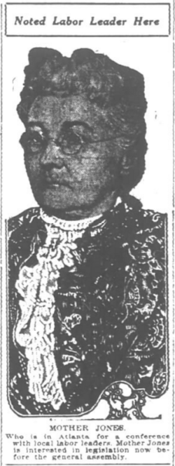 Mother Jones, Atlanta Constitution, July 12, 1916