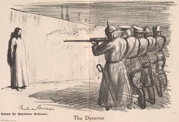 The Masses, The Deserter, Jesus Christ, by B Robinson, July 1916