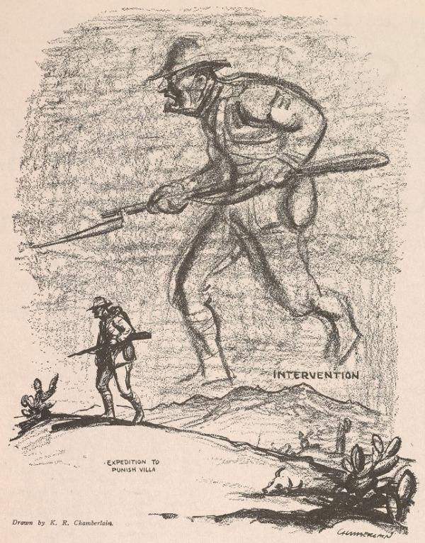 Villa Expedition by Chamberlain, Masses, May 1916