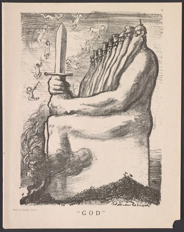 Masses, God of War, Boardman Robinson, Aug 1916