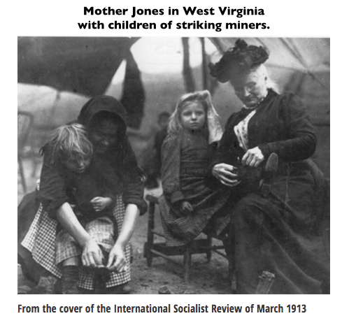 Mother Jones, WV with children of striking miners, ISR 1913