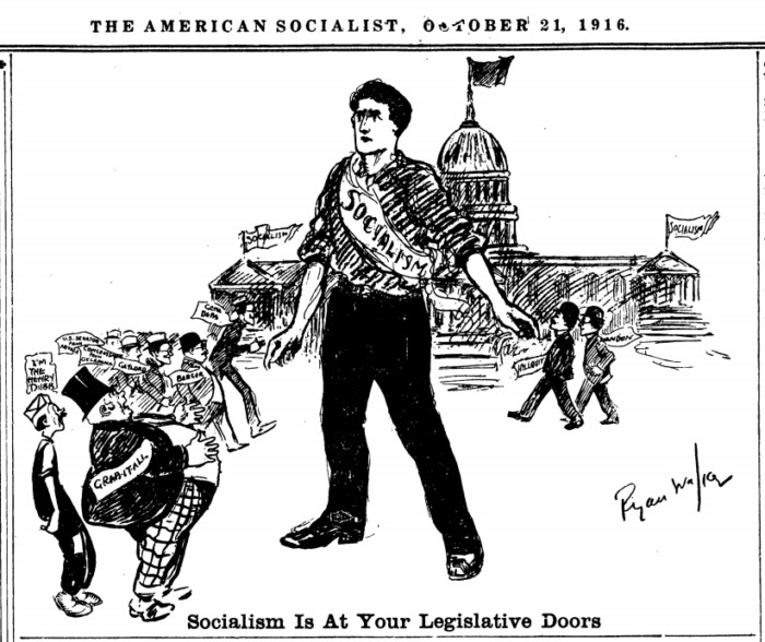 Socialism Legislative Doors, Ryan Walker, AmSc, Oct 21, 1916