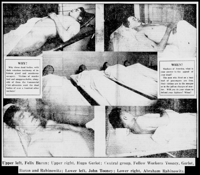 Everett Massacre, Bodies of the Martyrs, NW Worker, Nov 23, 1916
