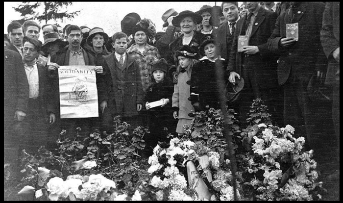 Everett Massacre, Funeral Felix Baran, Nov 18, 1916, UW