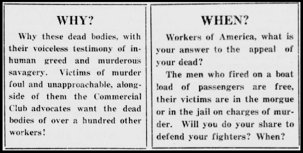 Everett Massacre, Why When, NW Worker, Nov 23, 1916
