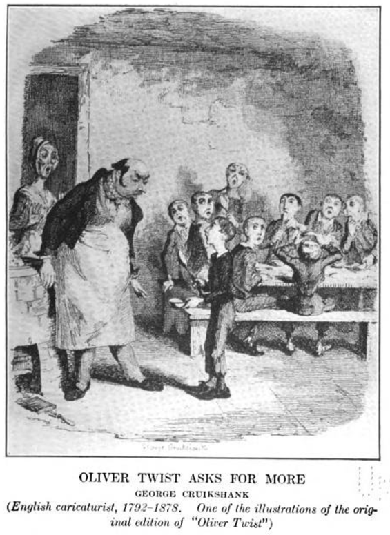 Oliver Twist Asks for More from Cry for Justice, 1915