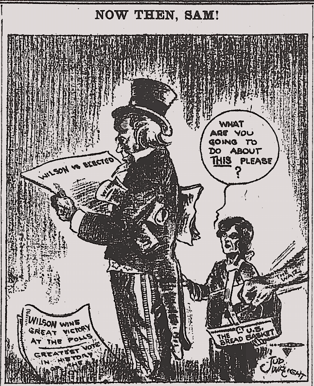 Uncle Sam and Hunger, Am Socialist, Nov 18, 1916