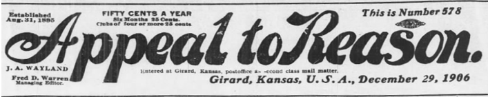 Appeal to Reason, Dec 29, 1906