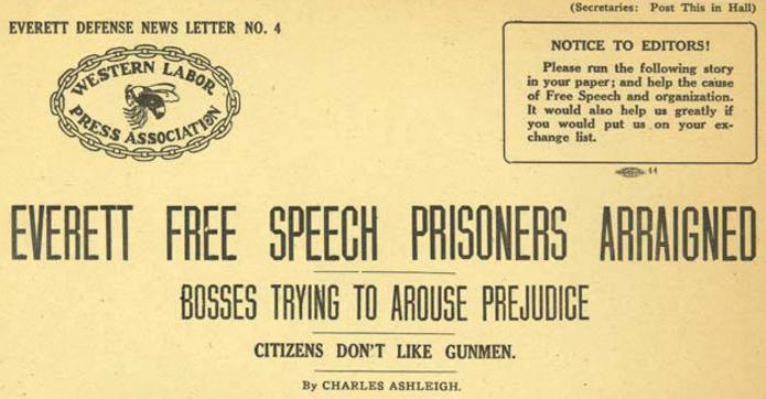 Everett Massacre, Def News Letter 4, Dec 23, 1916