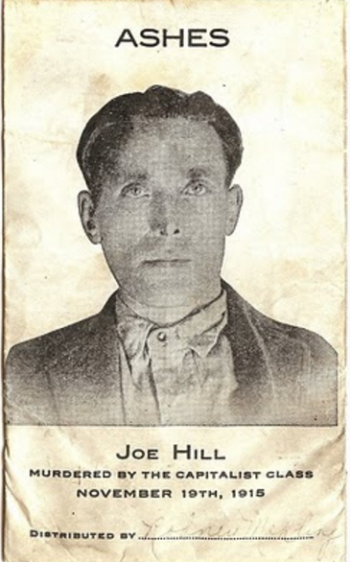 Joe Hill, ashes envelope front