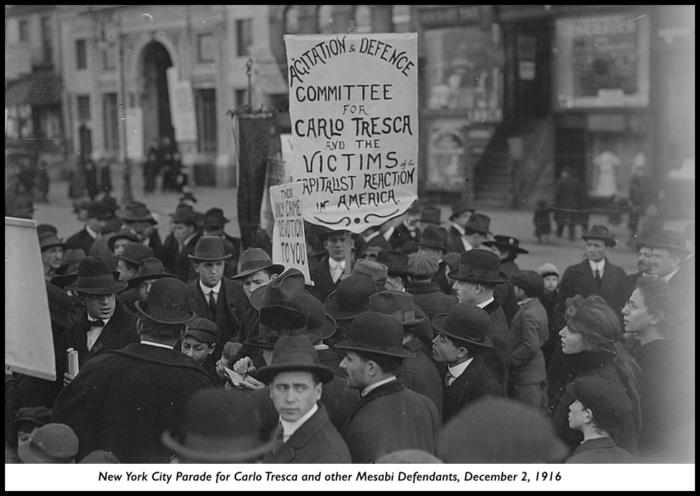MN16, Parade for Tresca etc, NYC, Dec 2, 1916