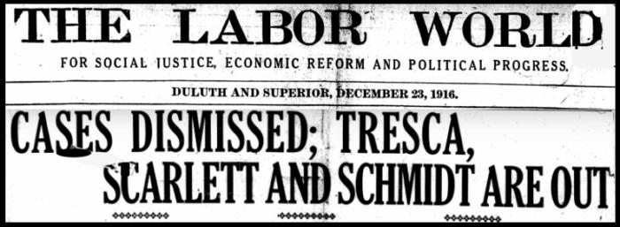 MN16, Tresca Scarlett Schmidt Released, LW, Dec 23, 1916