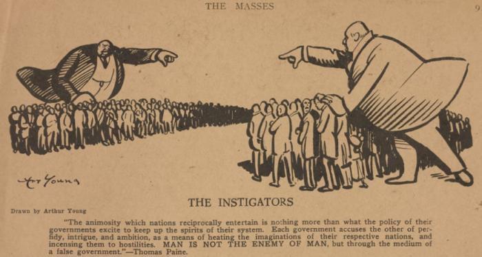 Masses, WWI Instigators, Art Young, Dec 1916