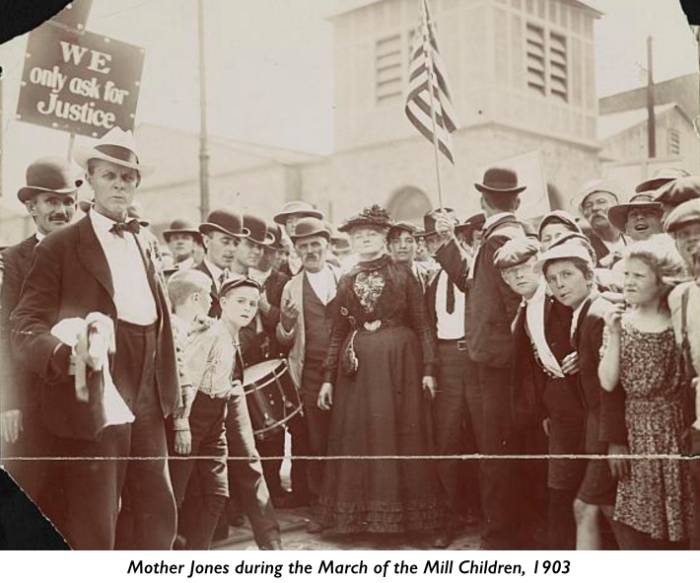 Mother Jones March of the Mill Children, 1903, with text