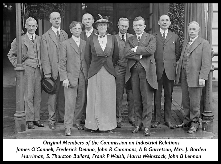 Commission on Industrial Relations, Original Members ab 1913
