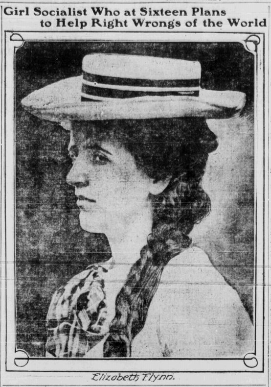 EGF Girl Socialist w Hat, NYW, Aug 24, 1906