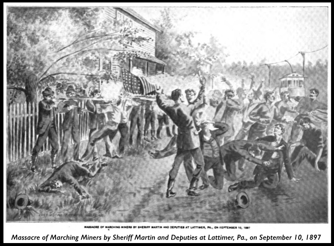 Lattimer Massacre of 1897, Locomotive Firemens Mag, Nov 1897