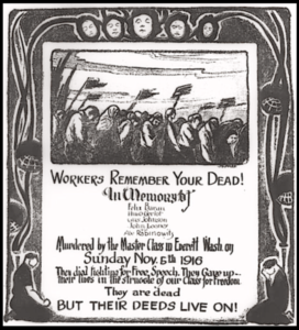 Everett Massacre, Poster, Remember by M. Pass, IW Nov 25, 1916
