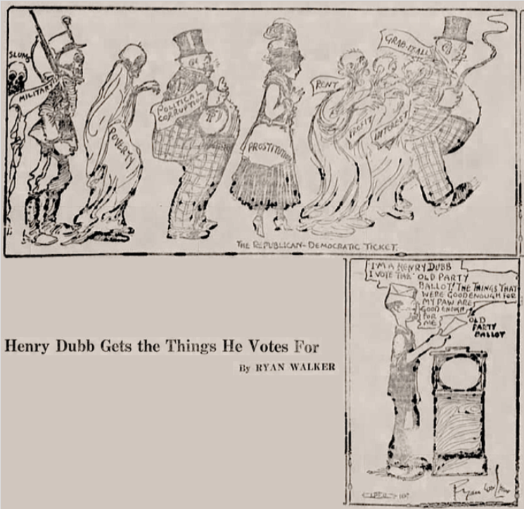 Henry Dubb Uses His Vote, Ryan Walker, Nw Wkr, Mar 29, 1917