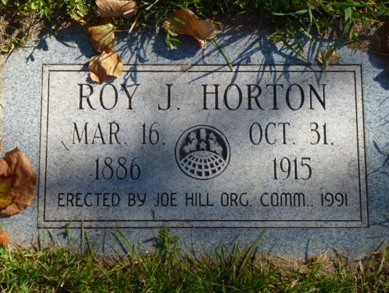 Roy J Horton tombstone
