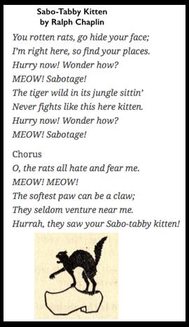 Sabo-Tabby Kitten by Ralph Chaplin