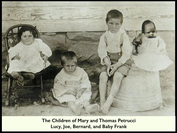 Petrucci Children, Lucy, Joe, Bernard, Baby Frank, 1913