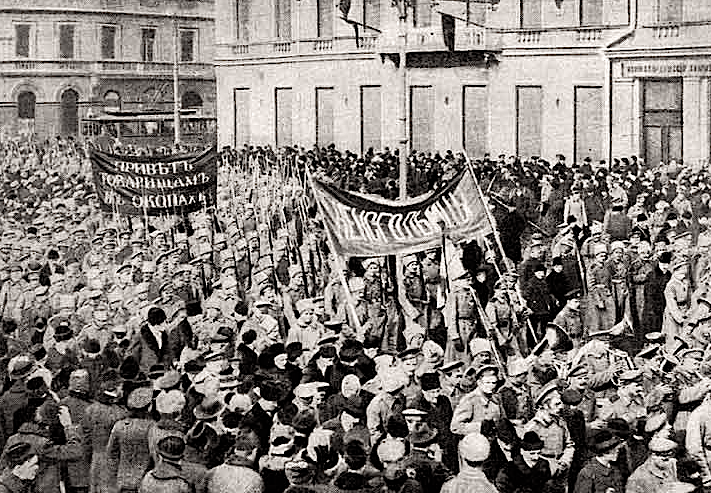 Soldiers Demonstration, Petrograd Feb 1917