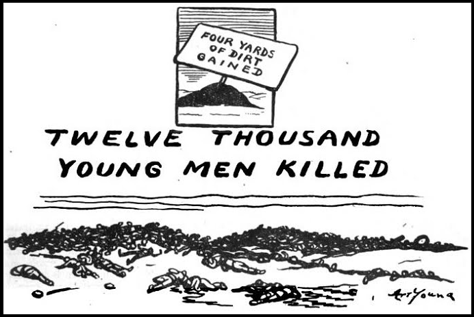 WWI, Young Men Killed, Art Young, ISR, Apr 1917