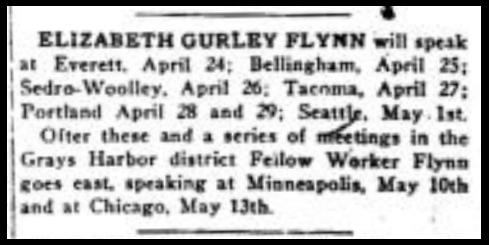Everett Massacre, EGF Tour Dates, IW p2c4, Apr 21, 1917