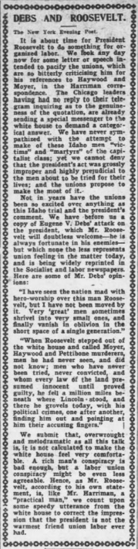 HMP, EVD v Roosevelt, AtR, May 4, 1907