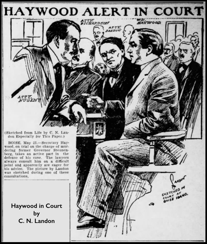 HMP, Haywood Alert in Court, Landon, Spk Prs, May 21, 1907
