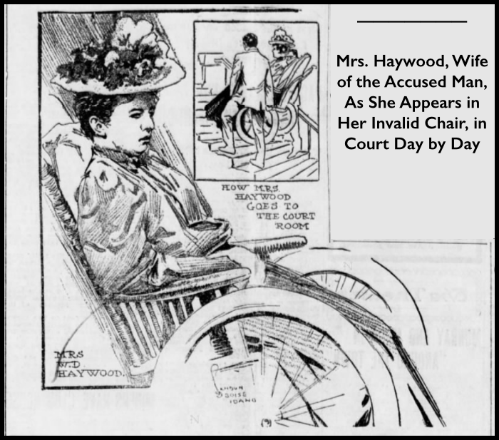 HMP, Nevada Jane Haywood in WC, Albq Eve Ctz, May 17, 1907