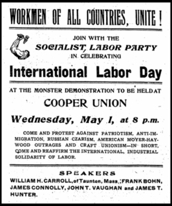 HMP, SLP May Day Cooper Union, Connolly, Dly Ppl p4, May 1, 1907