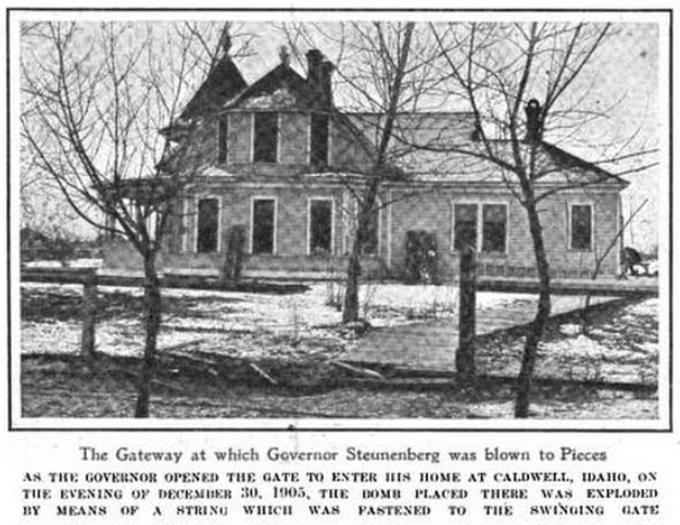 HMP, Steunenberg Home, Harpers May 25, 1907