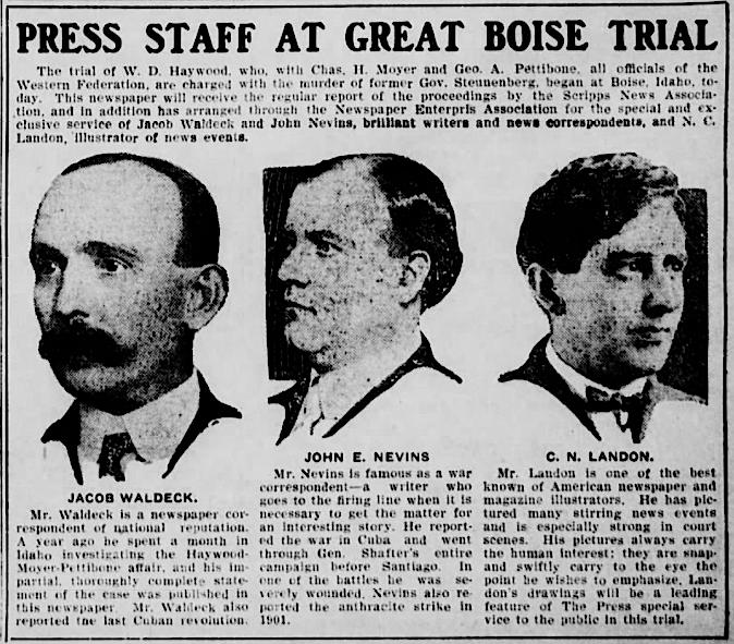 HMP, Waldeck Nevins Landon, Spokane Press, May 9, 1907