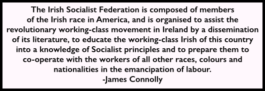 Irish Socialist Federation, James Connolly, NYC 1908