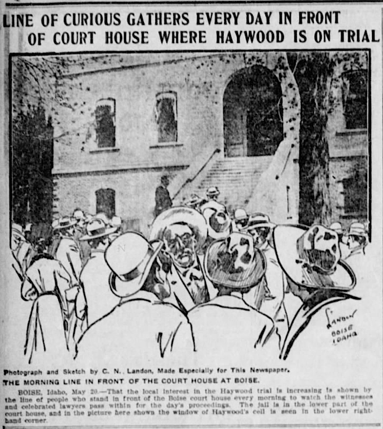 HMP, AM at Courthouse, Landon, Stt Str, May 20, 1907