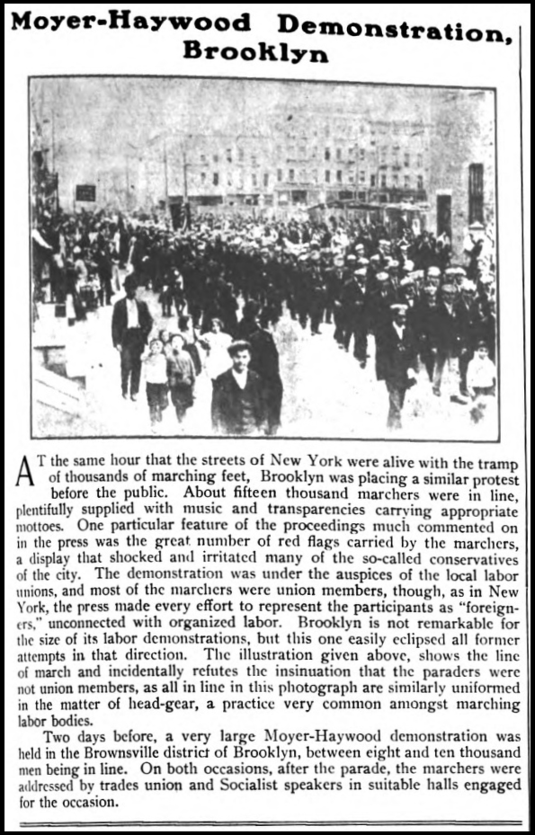 HMP, Brooklyn Protest, Wilshires June 1907