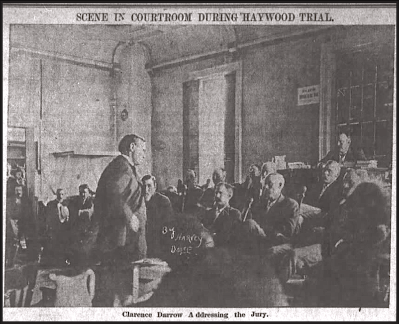 HMP, Darrow Addresses the Jury, OR Dly Jr, June 29, 1907
