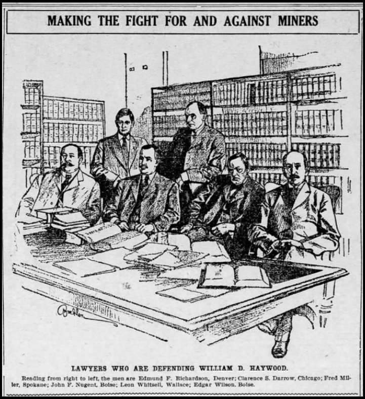 HMP, Defense Attorneys Drawing, Decatur Herald, June 2, 1907