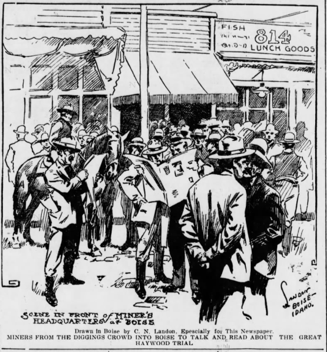 HMP, Miners in Boise, Spk Prs, May 13, 1907