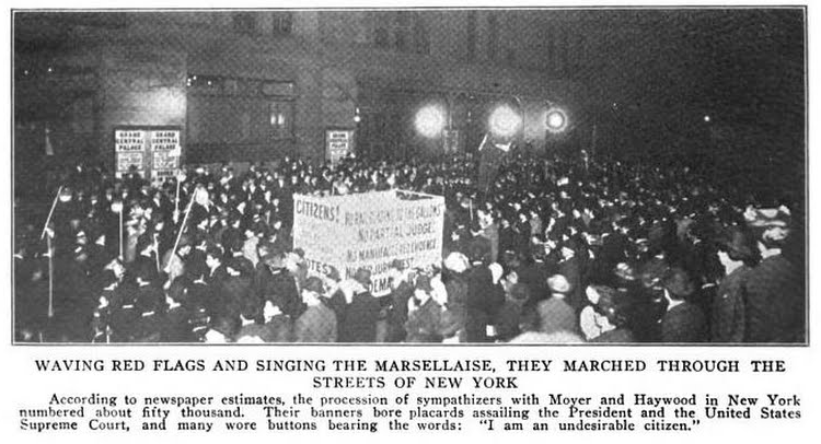HMP, NYC Moyer Haywood Protest, Current Lit, June 1907