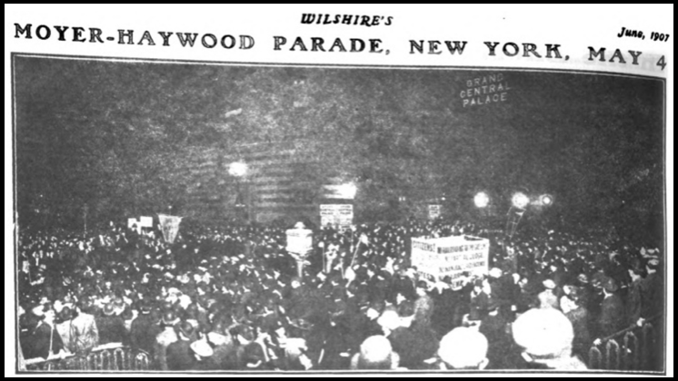 HMP, Protest, NYC, May 4, Wilshires June 1907